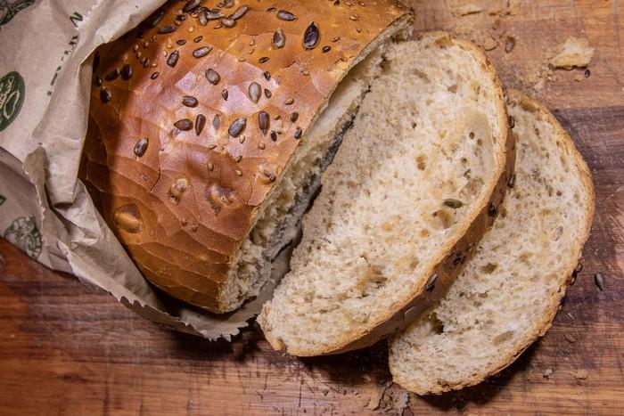 slnečnicové semienka v chlebe