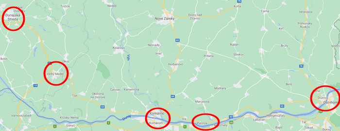 mapa dovolenka na Slovensku