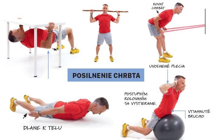 7 cvikov na posilnenie chrbta