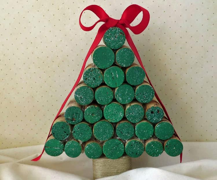 korkový vianočný stromček