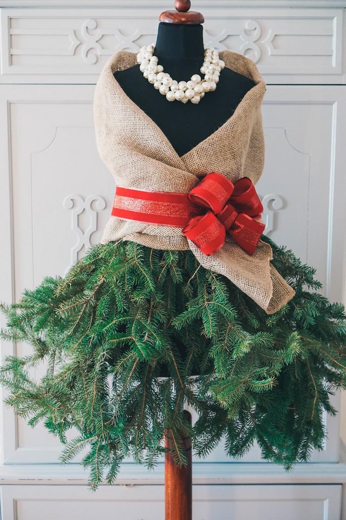 manekýnsky vianočný stromček