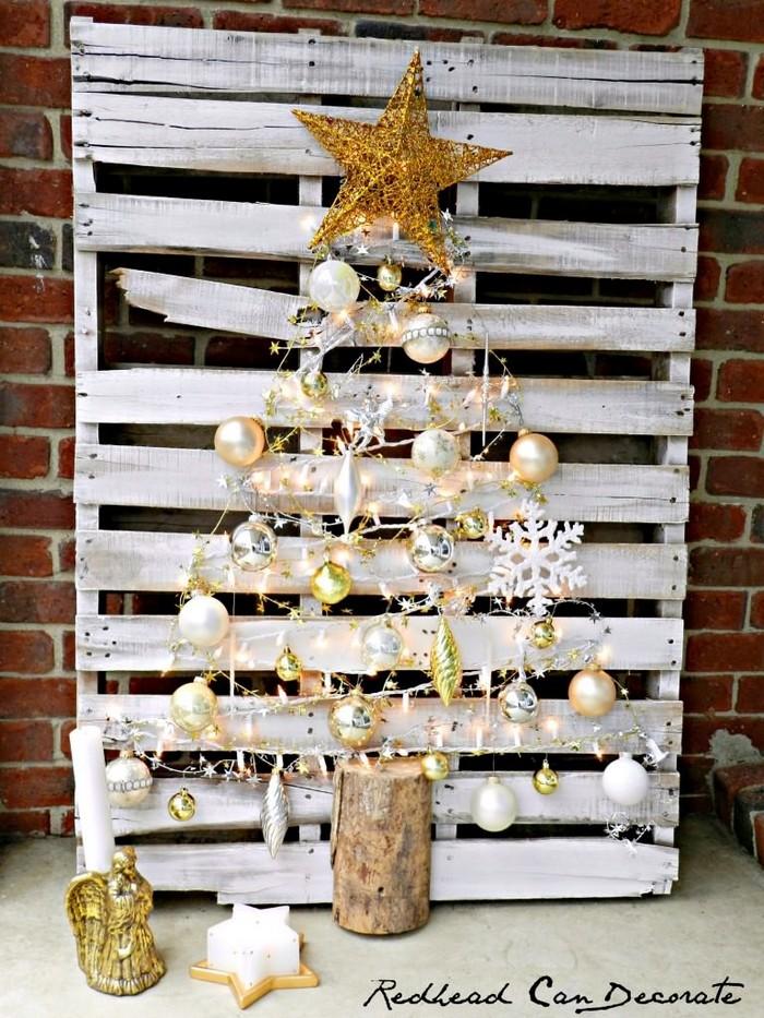 paletový vianočný stromček