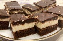 čokoládovo - tvarohové rezy Míša