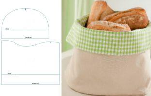 látkový košík na pečivo