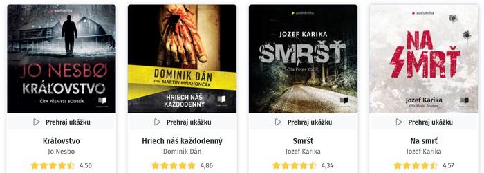 audioknihy slovenskí autori