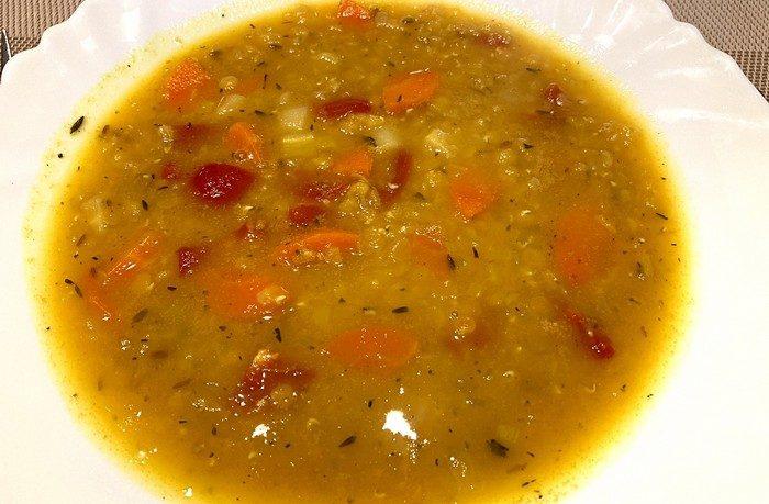 polievka z červenej šošovice