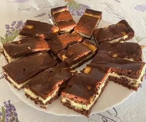 čokoládovo-tvarohový koláč recept