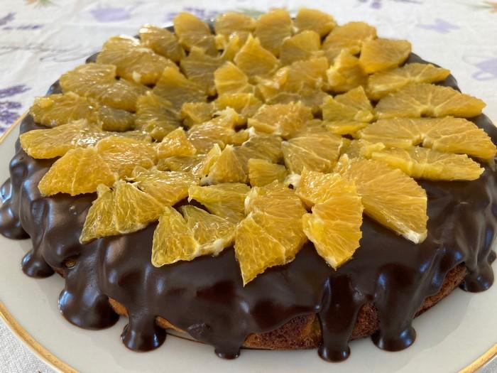 pomarančovo-mandľový koláč - recept