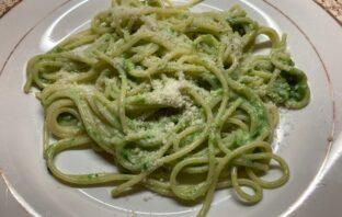 zelené špagety so špenátovou omáčkou recept
