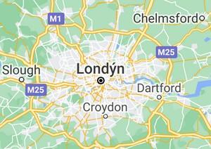 londyn mapa