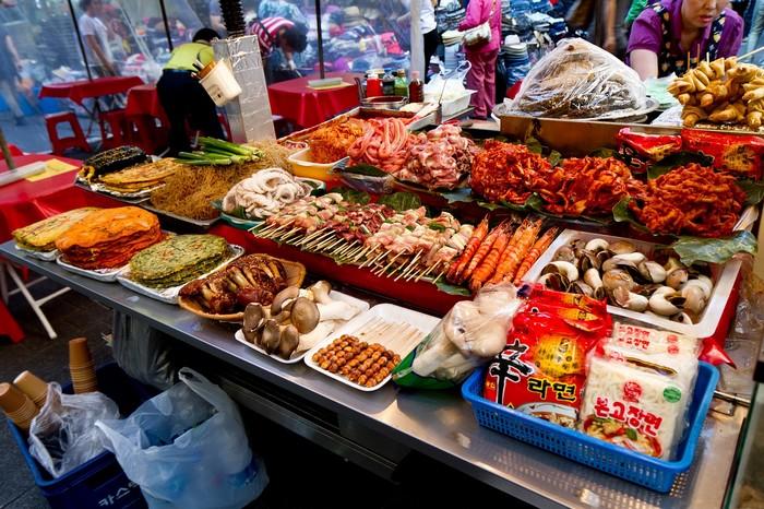 pouličné jedlo 10 kórejských jedál