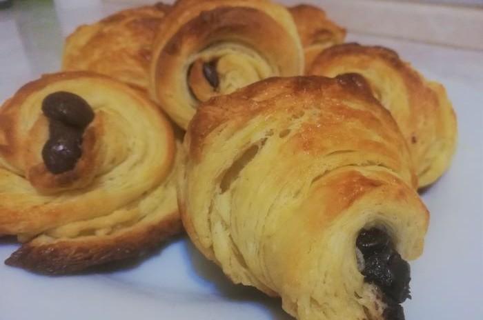 recept na croissant plnený čokoládou