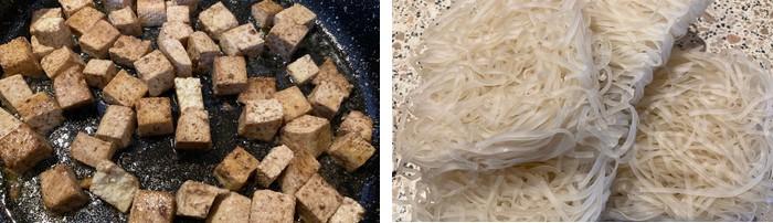 thajské rezance s tofu a zeleninou