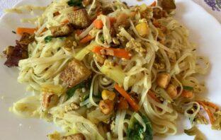 thajské rezance s tofu
