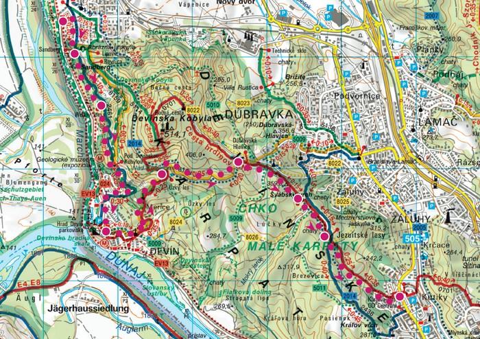 mapa devinska kobyla