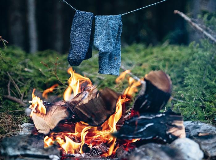 mokré ponožky v prírode