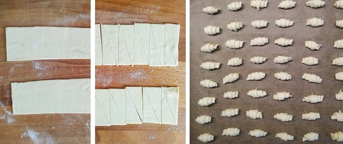 postup recept mini croissanty