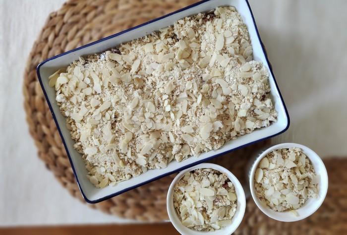 čerešňové crumble recept postup