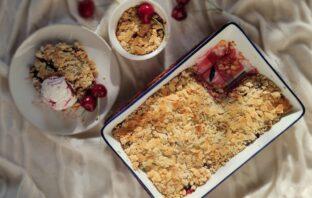čerešňové crumble recept