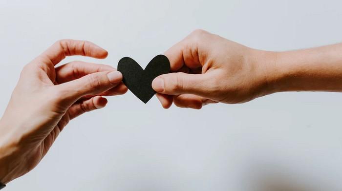 srdce a šťastný partnerský vzťah