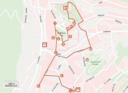 Kremnica mapa