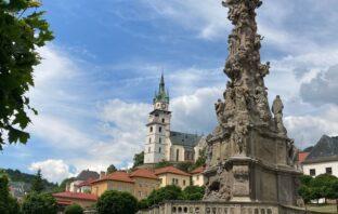 zlatá kremnica hrad a morový stĺp