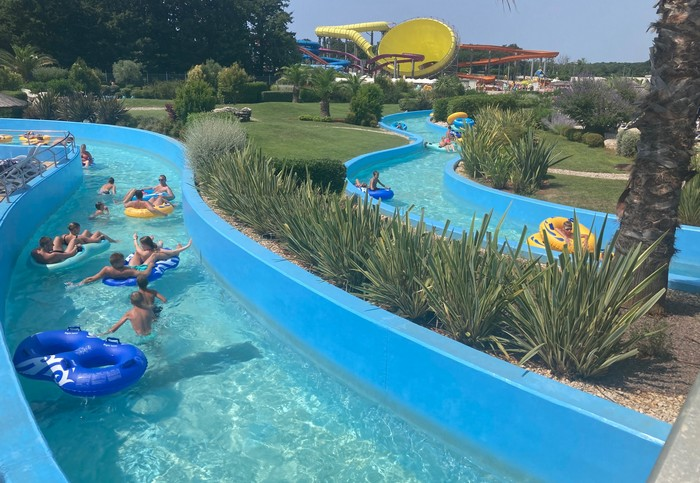 aquaparky v Chorvátsku Poreč Lazy river