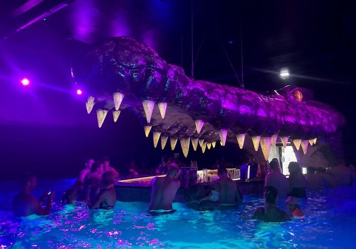 aquaparky v Chorvátsku Poreč krokodílí bar