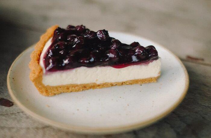 recept na čučoriedkový cheesecake