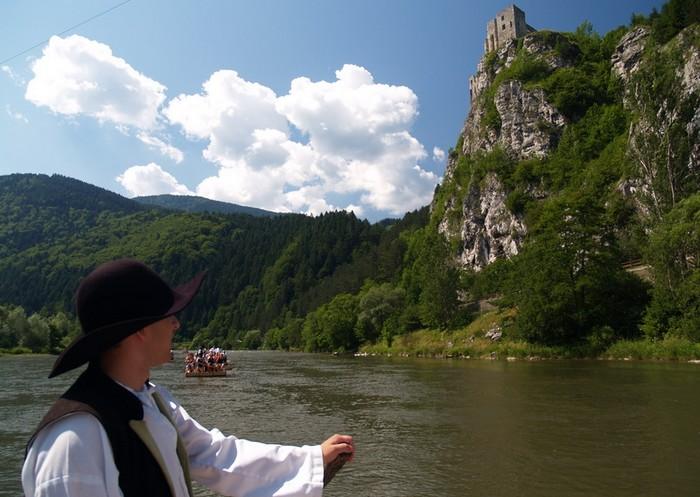 loďou po Slovensku - Pltníci pod Strečnom