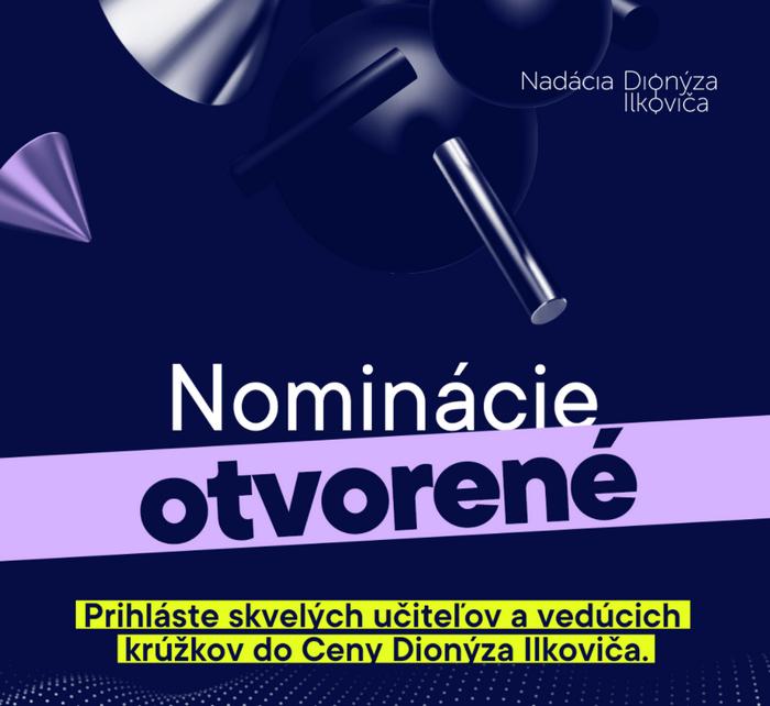 Cena Dionýza Ilkoviča šikovný učiteľ