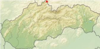 Babia hora na mape Slovenska