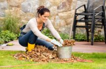 pri prácach v záhrade