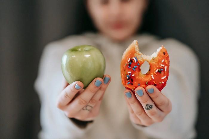 vlčí hlad jablko donut
